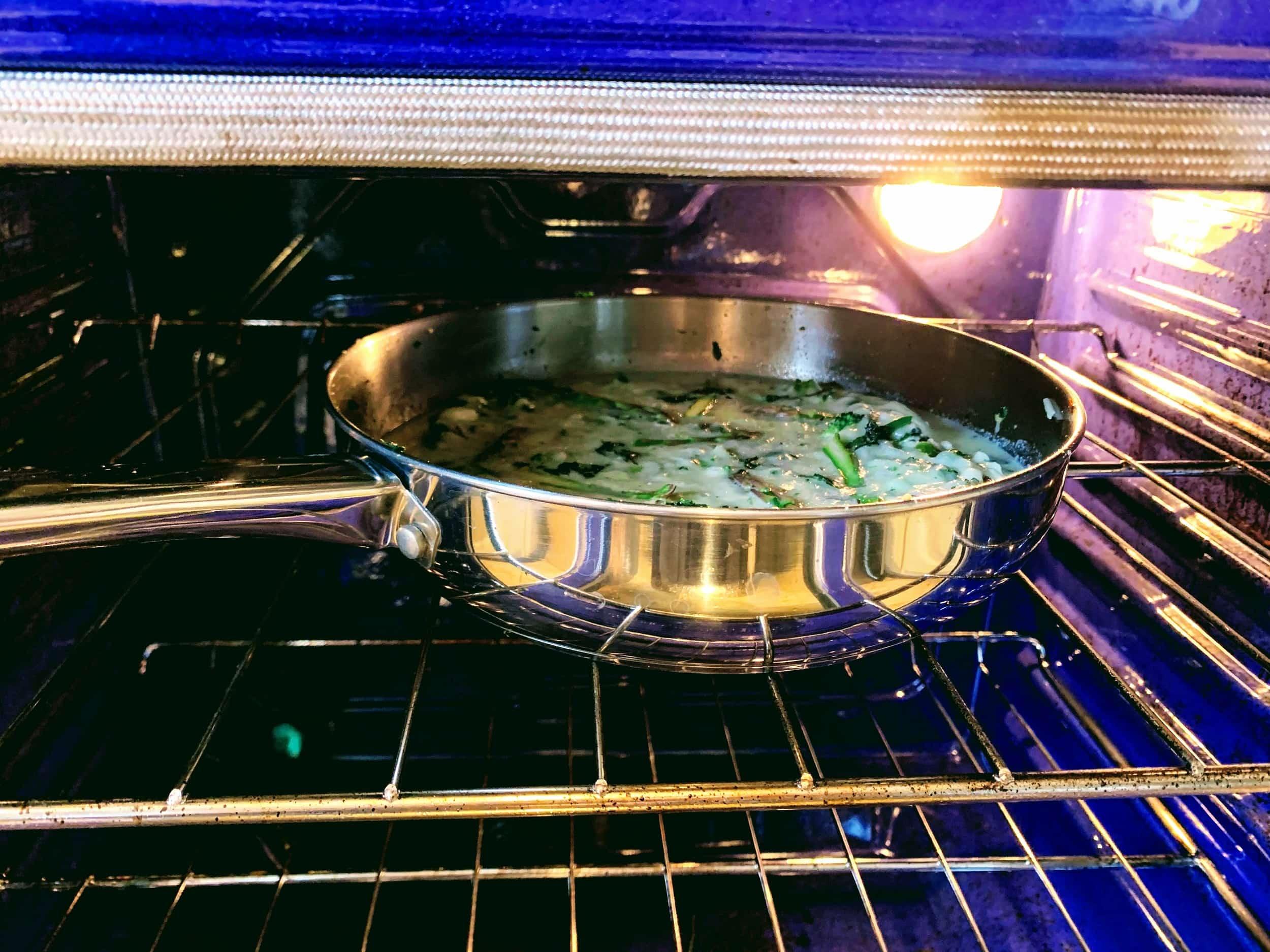 Egg White Frittata Green Veg_bake in oven