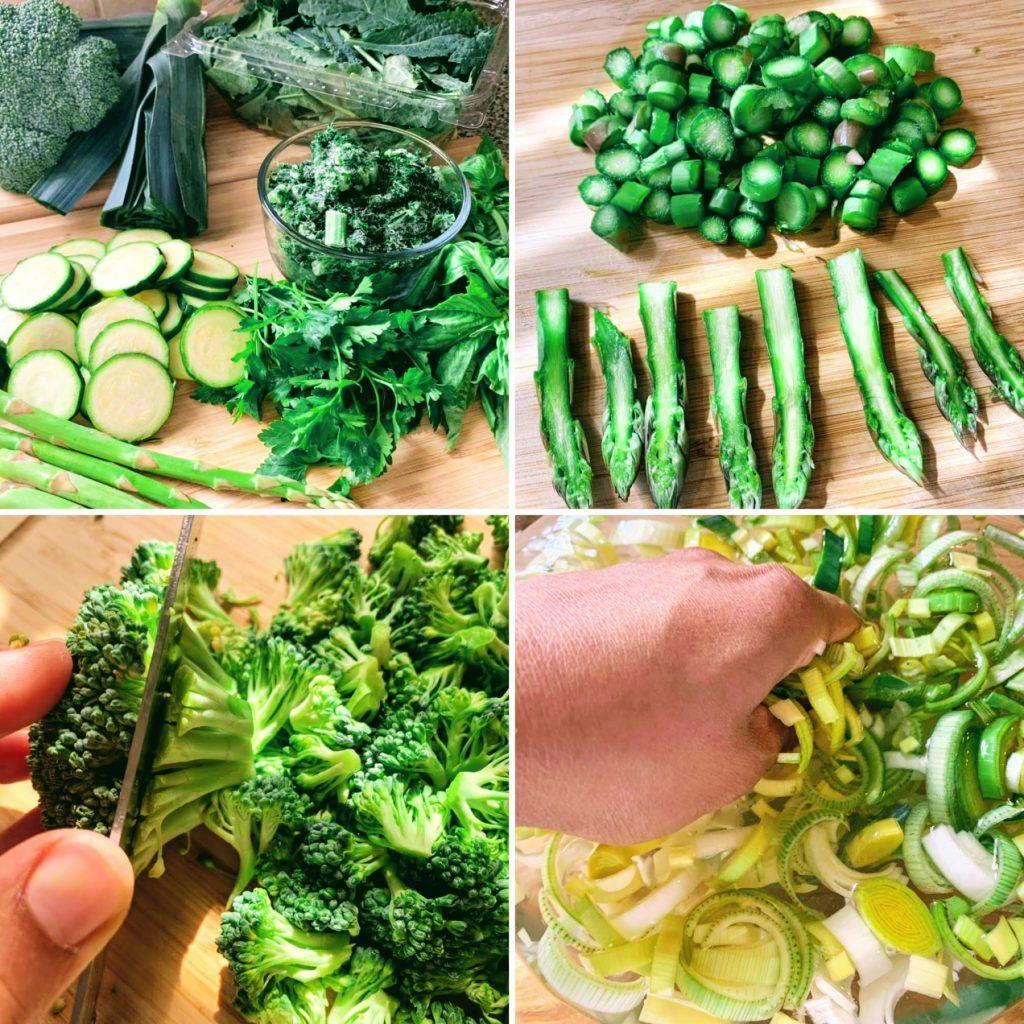 Mean Green Vegetable Lasagna_ingredients and prep