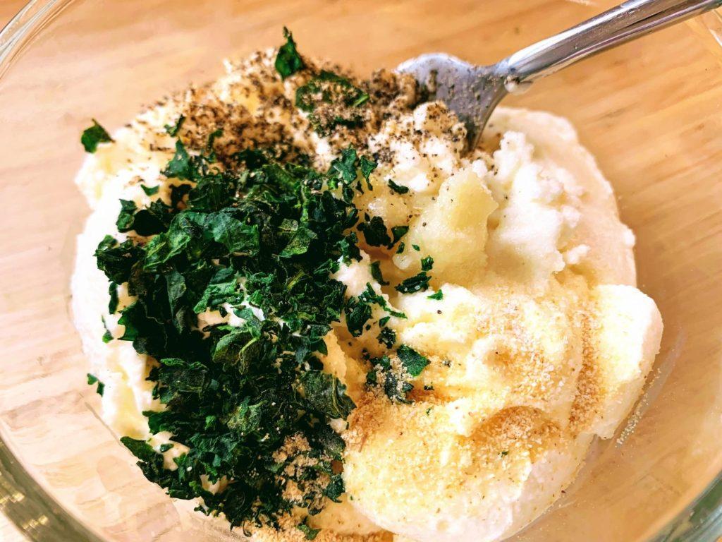 Mean Green Vegetable Lasagna_ricotta spread