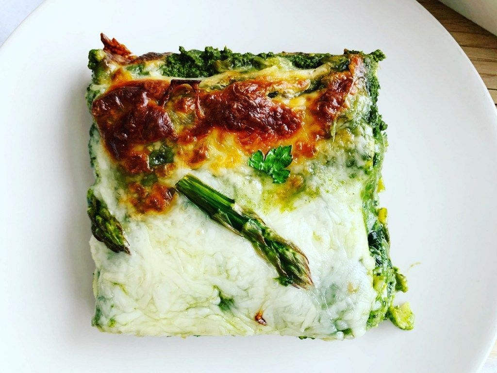 Mean Green Vegetable Lasagna_square piece topview_1200px