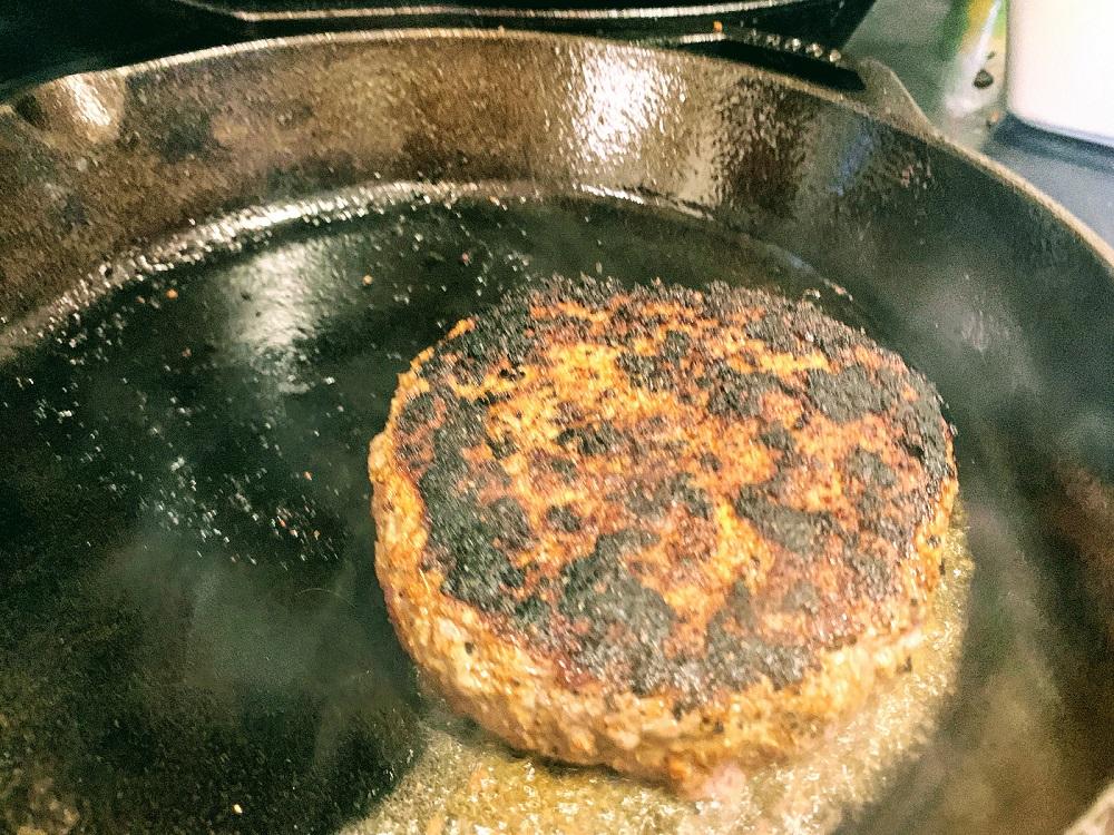 Harissa Spiced Lamb Burger_flip and cook to medium