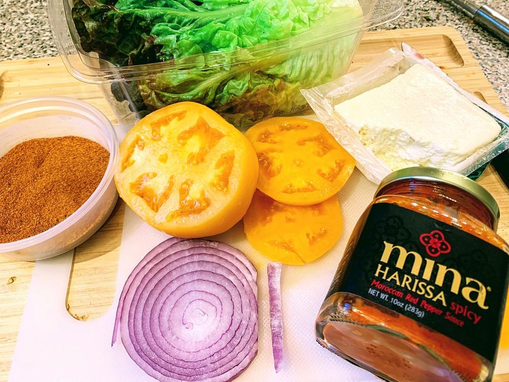 Harissa Spiced Lamb Burger_ingredients