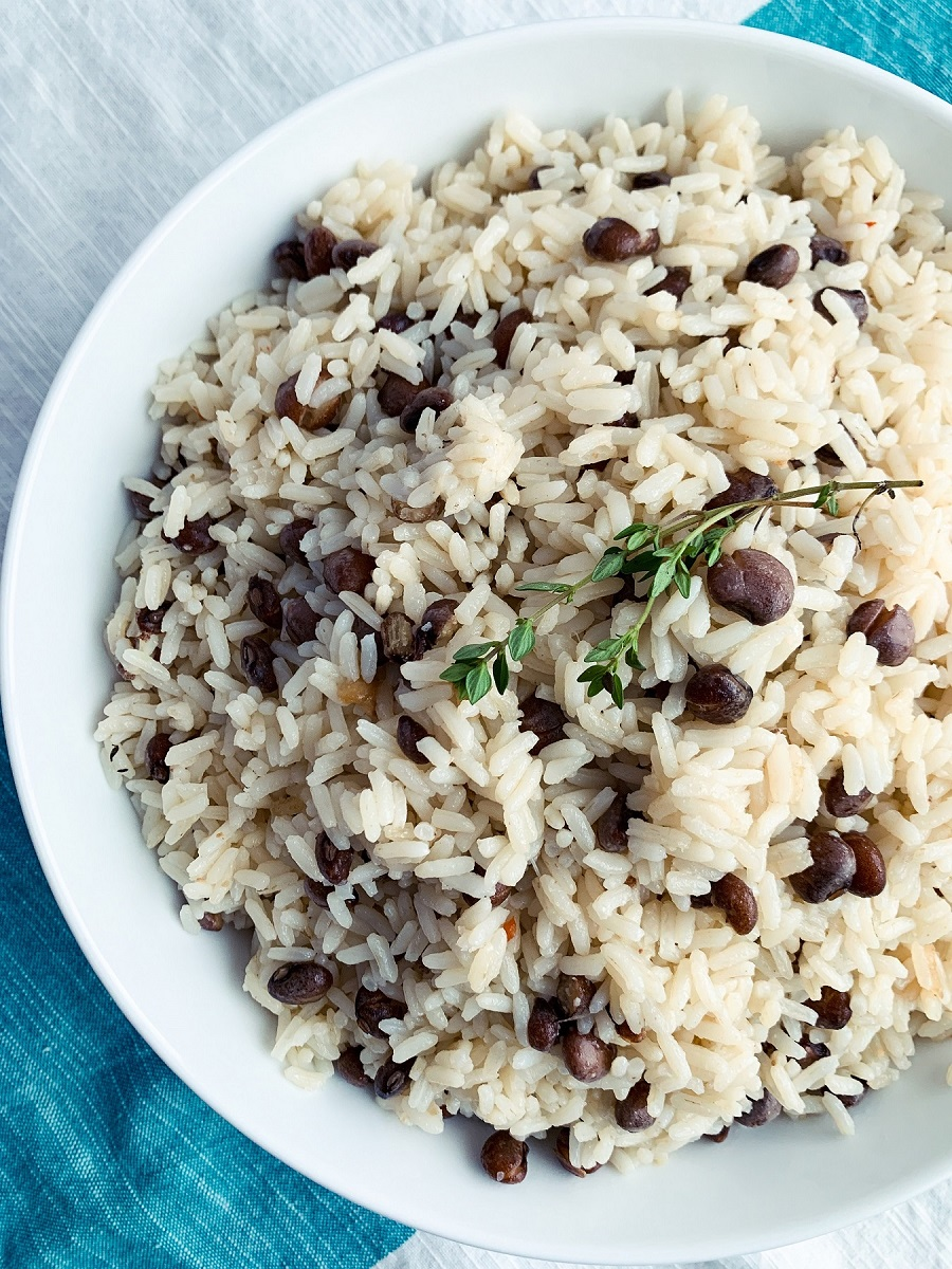 Jamaican Pigeon Peas and Rice_topview_1200px