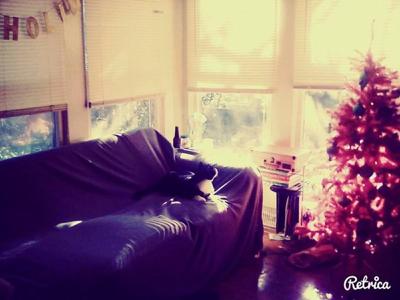 Living room at Christmas time, 2015.