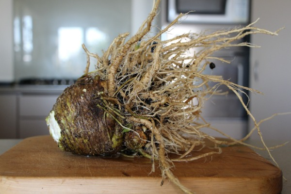 Cleaned celeriac.