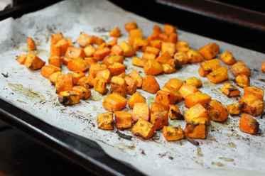 Roasted carrots.