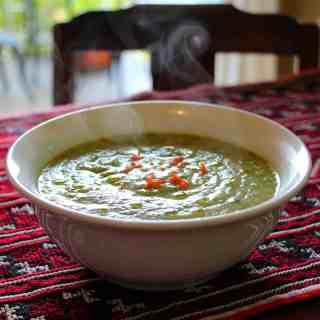 Green soup.