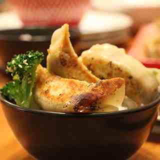 Gyoza-style vegetable dumplings