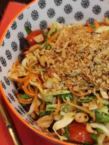 Thai-style coleslaw.