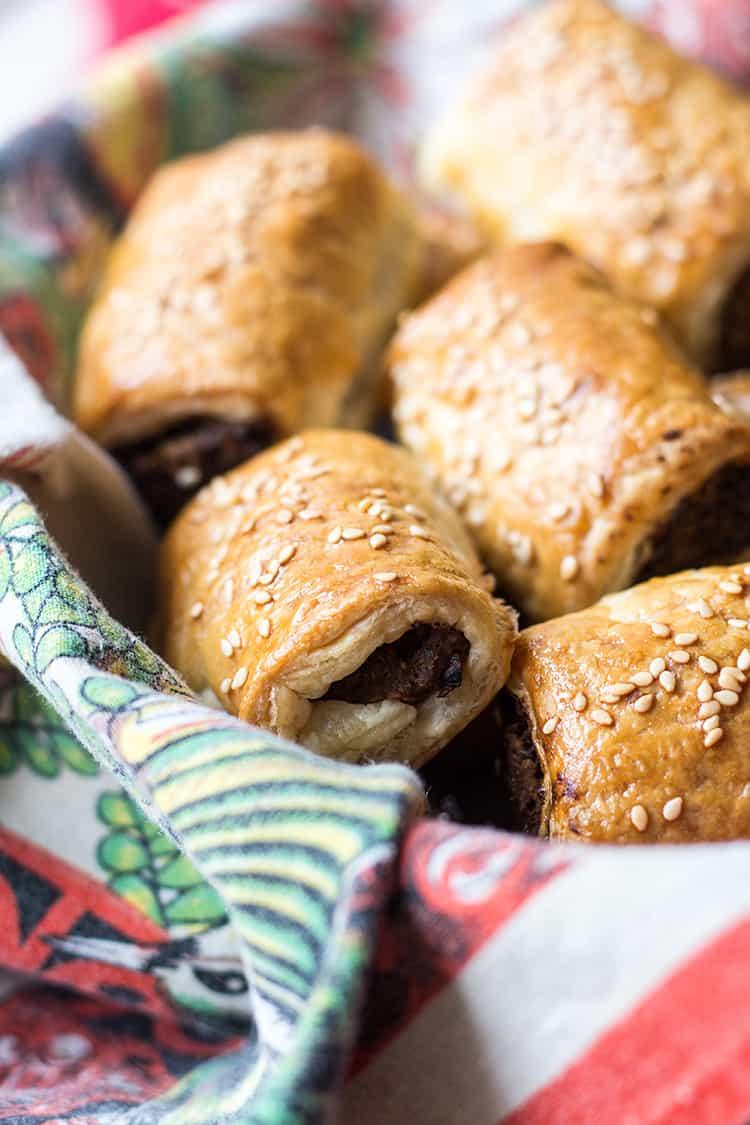 Vegetarian not sausage rolls.