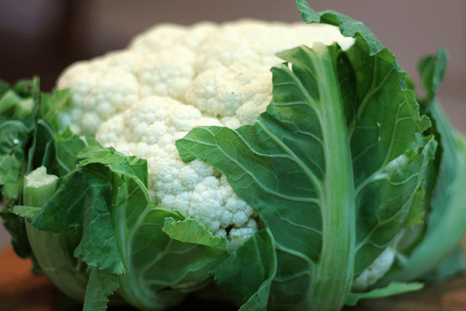 A large cauliflower.