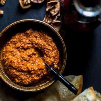 Muhammara - red pepper and walnut dip (vegan and gluten free).