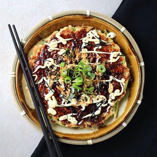 Basic okonomiyaki.