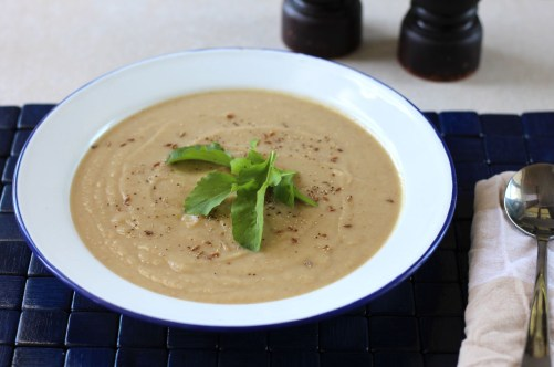 Parsnip and cumin soup.
