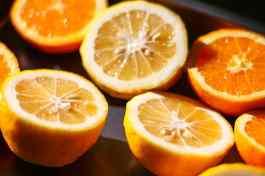 Lemons and oranges.