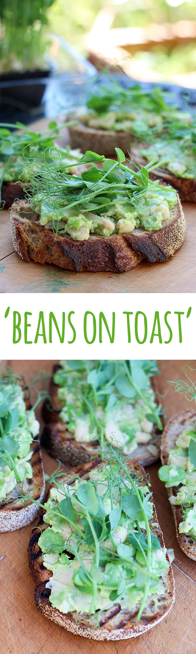It's beans on toast, but not as you know it. This version is light, refreshing and packed with plant protein for a delicious and healthy meal.