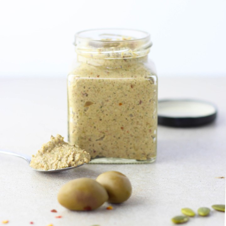 Olive and pumpkin seed tapenade.
