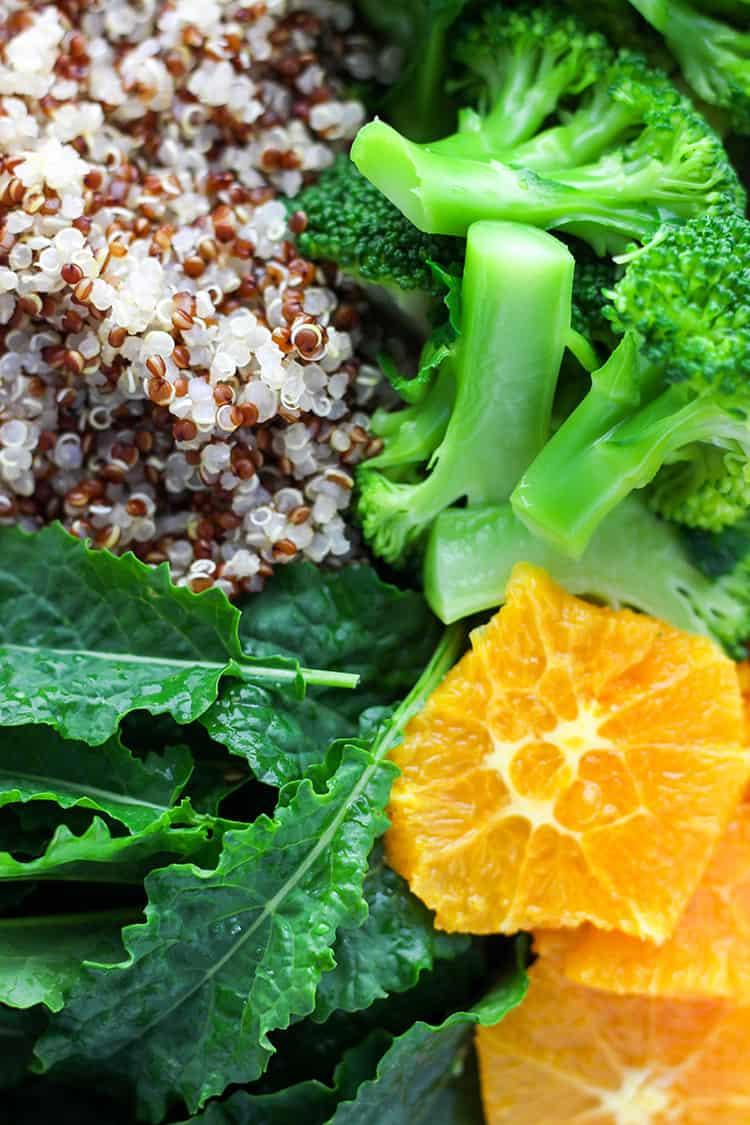 Quinoa, citrus and greens.