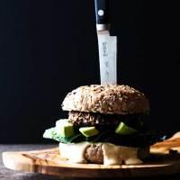 Vegan black bean burger (gluten free).