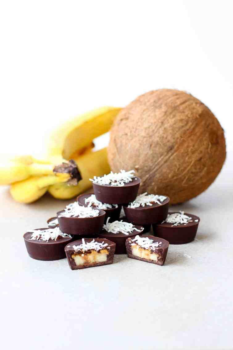 Cacao and banana freezer treats.