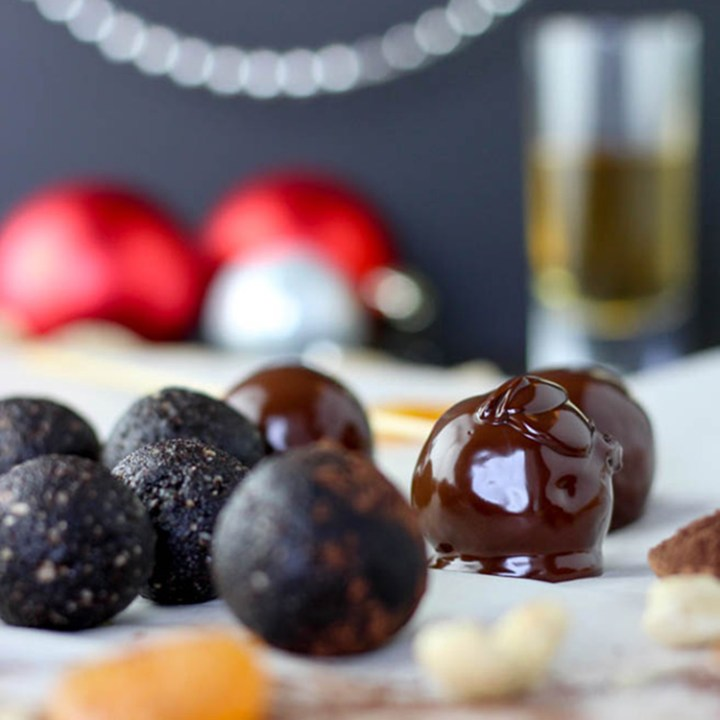 Apricot and whisky truffles.