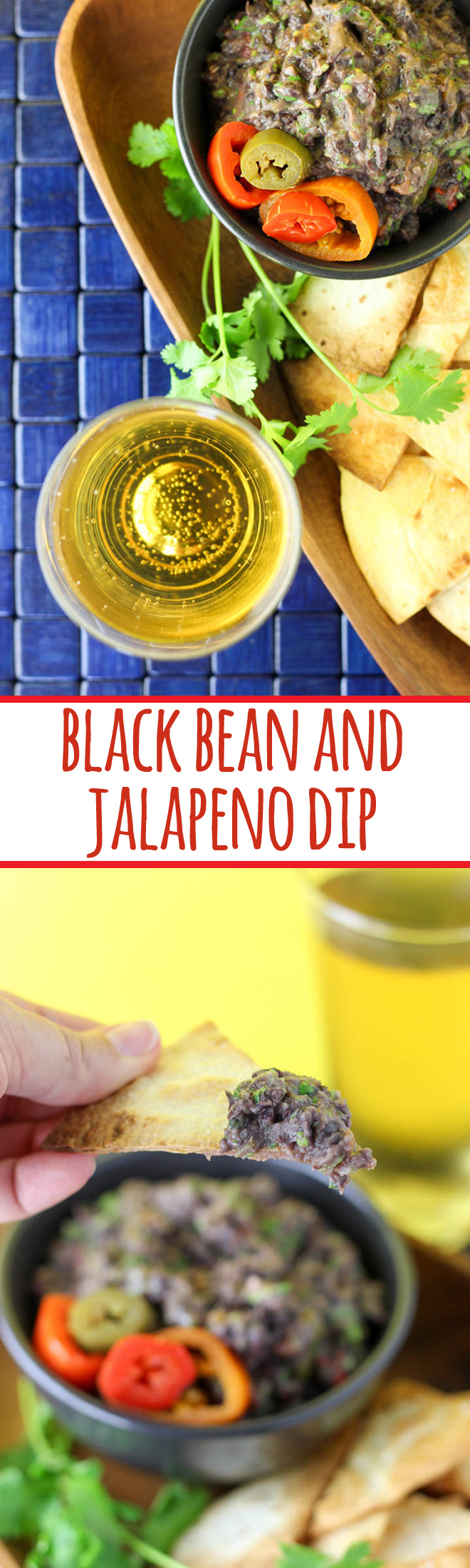 Mexican inspired black bean and jalapeno dip is packed with flavour, perfect for parties and pot lucks, and right at home with an ice cold beer.