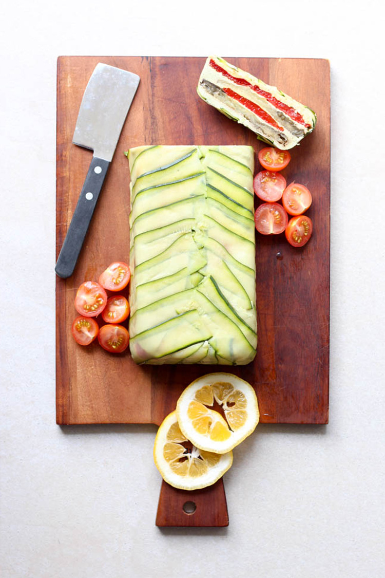 Grilled vegetable terrine.