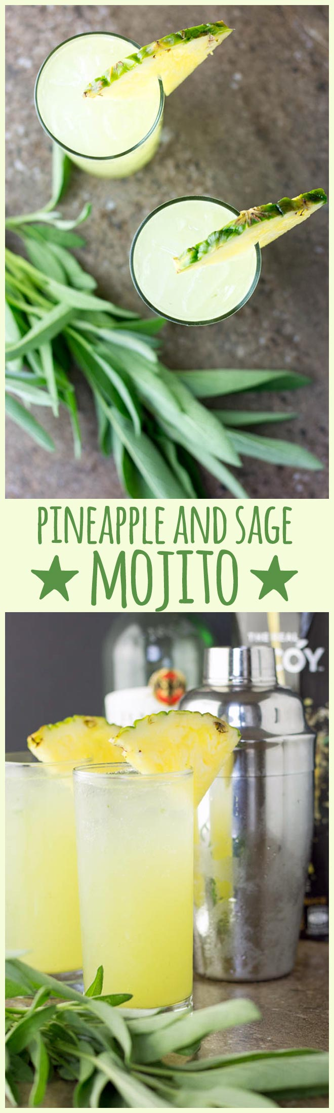 Pineapple and sage are a curiously delicious combination in this light and refreshing twist on a classic mojito.