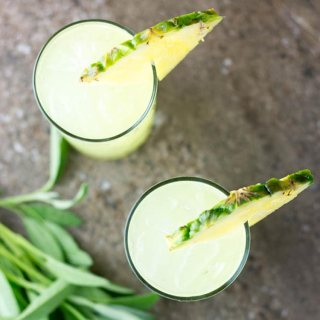 Pineapple and sage mojito