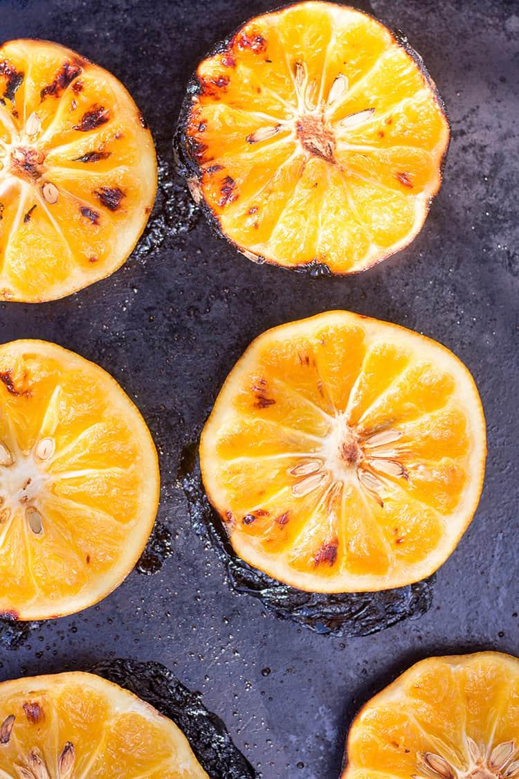 Charred grapefruit.