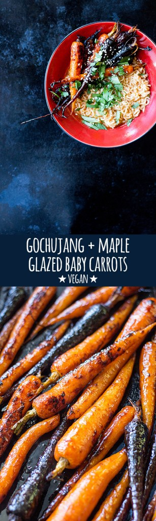 Get hold of some baby carrots from your local farmers market and make these delicious, sweet and spicy gochujang glazed baby carrots. They're so good!