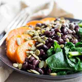 Black bean protein bowl.