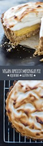 Vegan apricot meringue pie (gluten free).