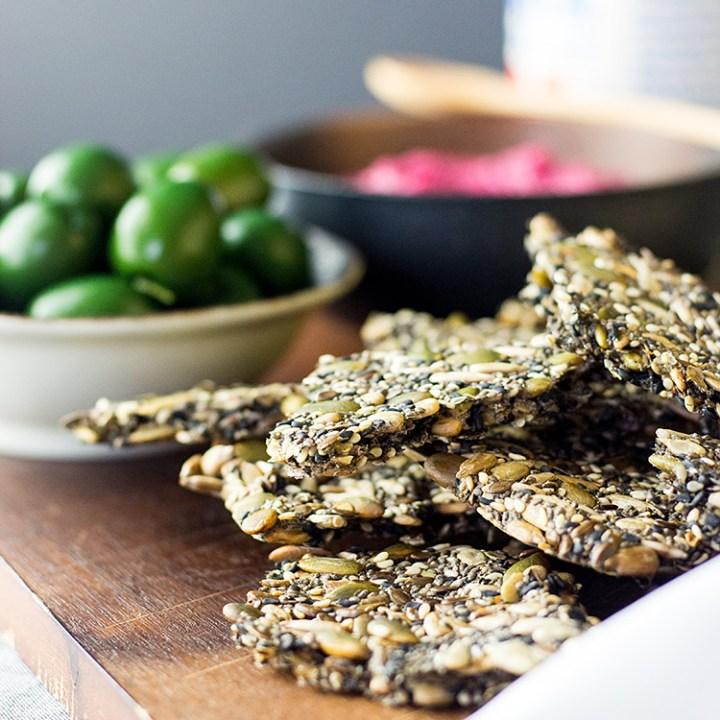 Five seed crackers (vegan and gluten free).