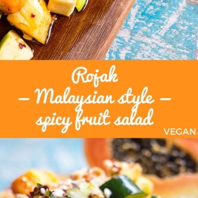 Sweet, sour, salty, spicy and savoury rojak is a delicious and refreshing Malaysian style fruit salad spiked with chilli and peanuts.