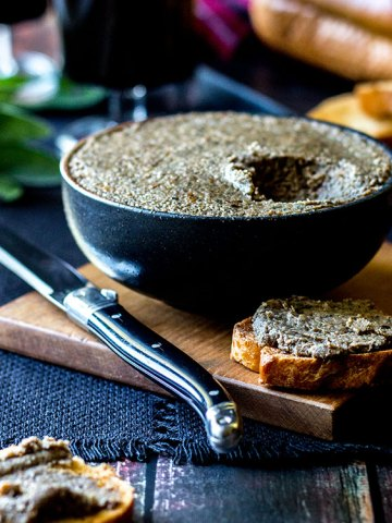 Mushroom and hazelnut vegan pate.