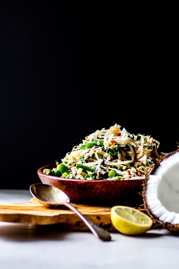 Urab sayur: Balinese coconut and vegetable salad (vegan and gluten free).