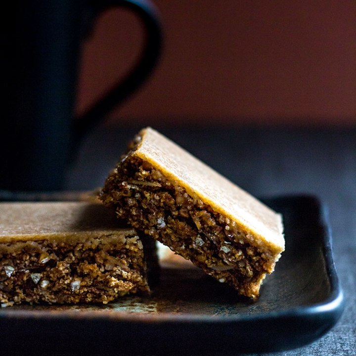 Coffee granola slice.