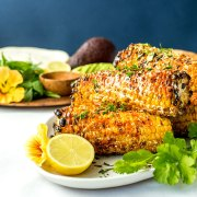 Grilled Mexican sweet corn