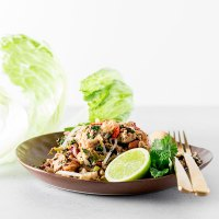 Cauliflower, peanut and tofu larb.