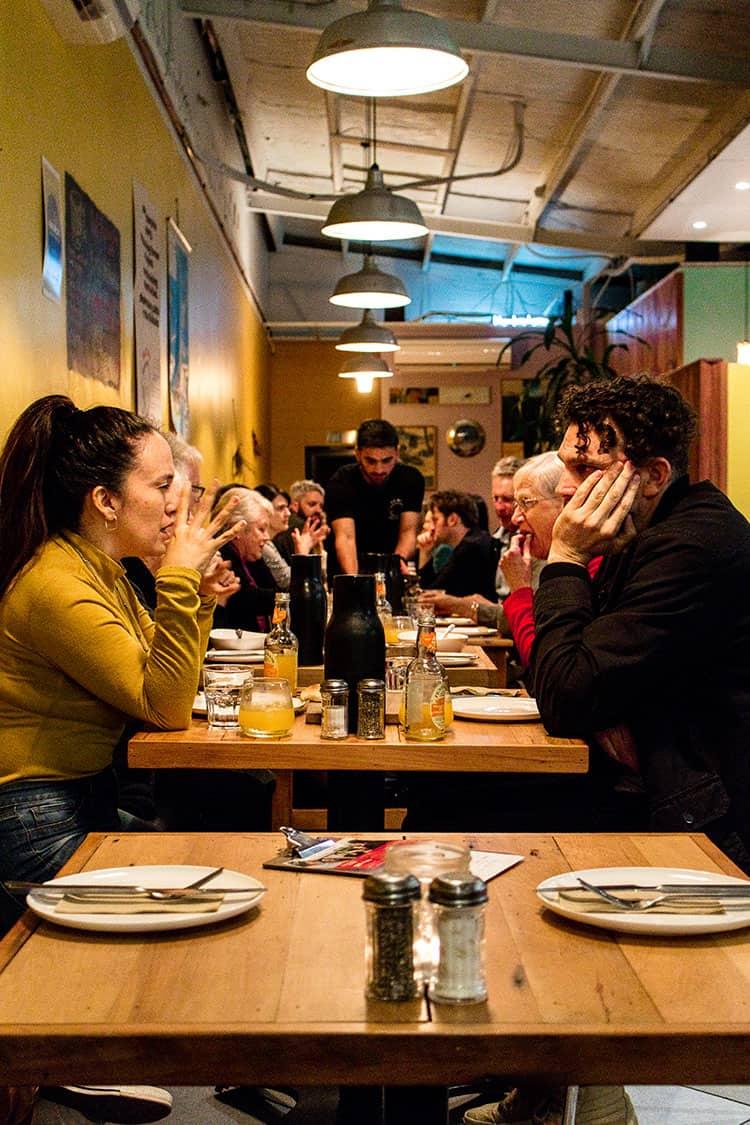 A Home Kitchen pop up restaurant night at Yalla Yalla Cafe, Hamilton, New Zealand.