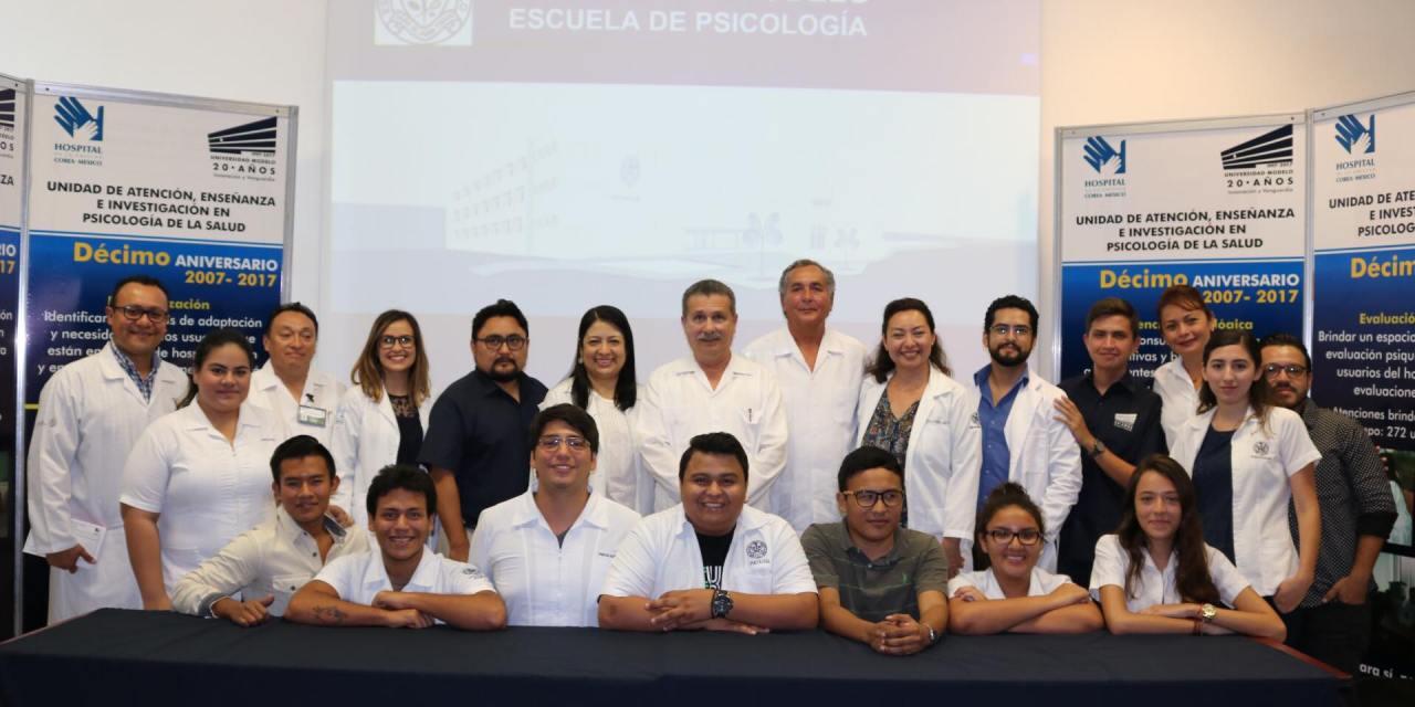 Universidad Modelo conmemora 10 años de brindar apoyo psicológico en el Hospital de la Amistad