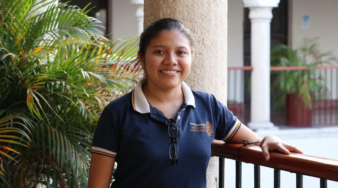 Ana Esther Heredia Cen, primera estudiante de la UMT que irá de intercambio a Colombia