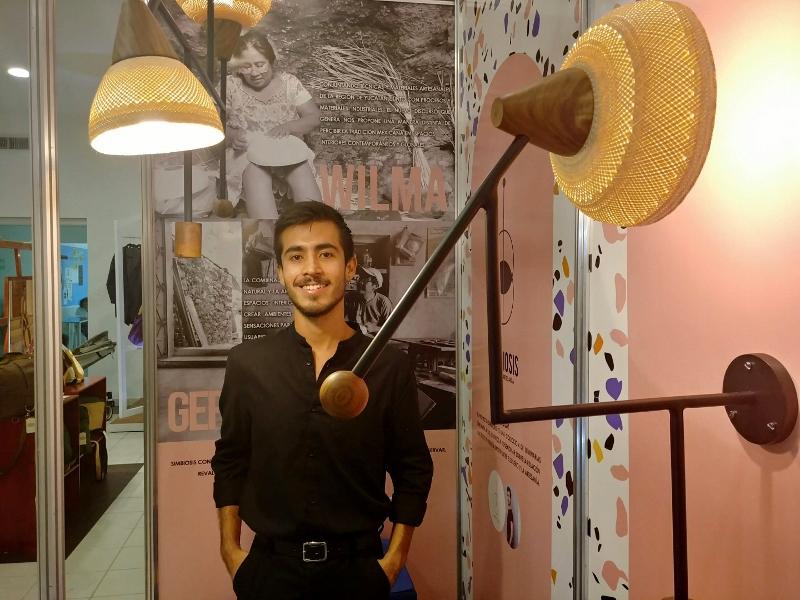 SIMBIOSIS. Colección de luminarias realizadas con técnicas y materiales artesanales de Yucatán.