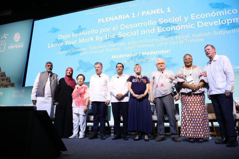 Inicia la 17 Cumbre Mundial de los Premios Nobel de la Paz