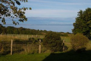 Sea view on Arran from Quivive Cottage garden