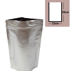 Quiware Stand Up Zip Lock Pure Aluminium Pouch 23cm(Width) x 35cm(Long) -100 pouches