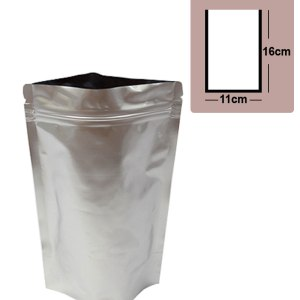 Quiware Stand Up Zip Lock Pure Aluminium Pouch 11cm(Width) x 16cm(Long) -100 pouches