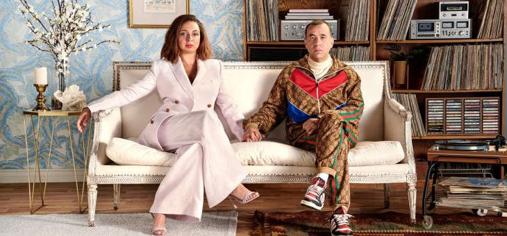 Shot at Quixote: Fred Armisen and Maya Rudolph by Peter Yang for GQ