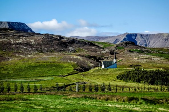 Church in Icelandic Hills